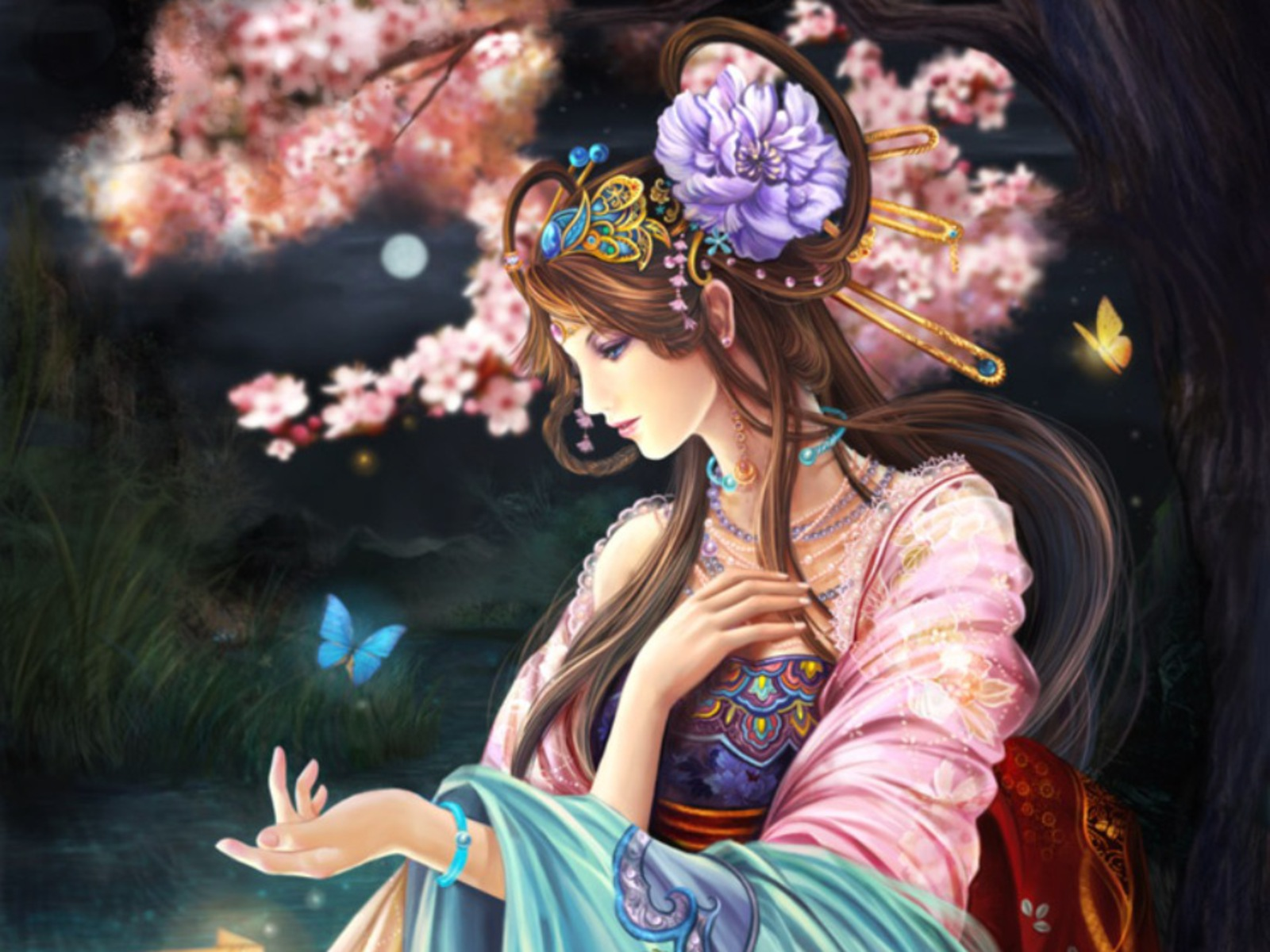 Beautiful anime wallpapers ii stress effect - Beautiful girl anime wallpaper ...