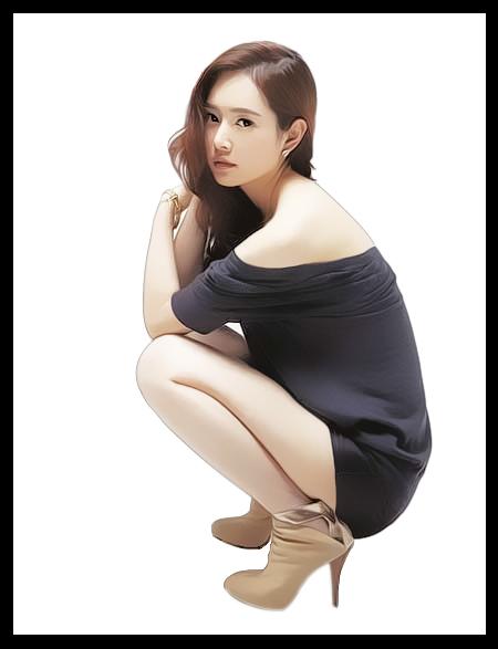 Black Dress Korean Singer